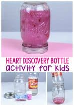 Wow your kids this year with this fun and simple Valentine's Day heart discovery bottle! Use a variety of materials to make your discovery fun endless!