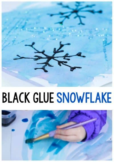 If you love black glue crafts, don't miss out on this fun black glue snowflake craft! It's the perfect open-ended winter art activity.