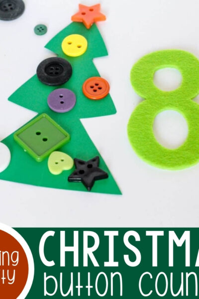 Christmas Button Counting Featured Square Image