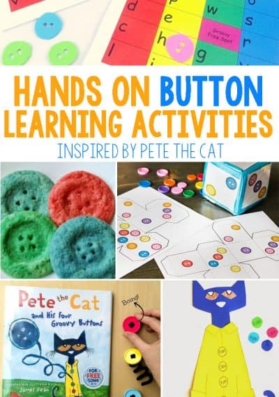 Hands On Button Learning Activities Inspired By Pete The Cat