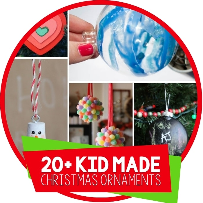 20+ Kid Made Christmas Ornament Ideas