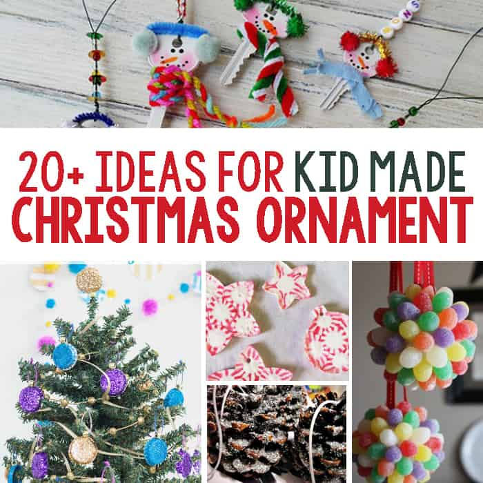 20 kid made ornament ideas perfect ideas to do in the classroom at - Christmas Decoration Ideas For Kids