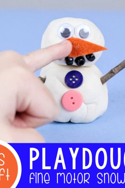 Playdough Fine Motor Snowman Featured Square Image