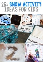 25+ Super Fun Snow Activity Ideas For Kids. Kids will love these snow themed learning activities including math, science, literacy, art & crafts, and sensory activities!