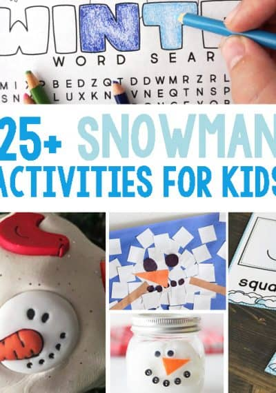 25+ Snowman Activities Kids Will Love. Including math, science, literacy, sensory and crafts.