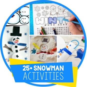 Snowman Activities for Winter Themes Featured Image