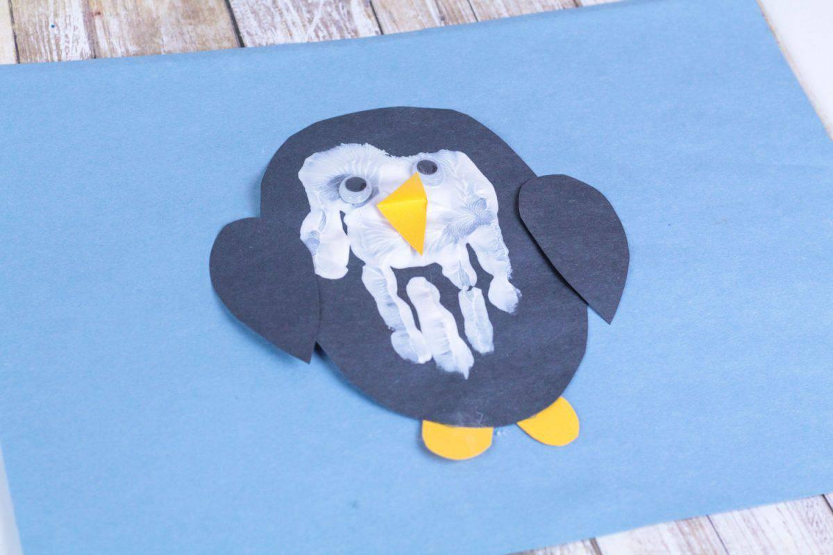 Penguin hand print