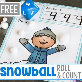 Snow Themed Roll and Count square featured image.