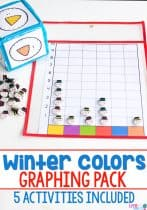 Your children will love the engaging activities in this Winter Colors Pre-K pack! Not only will they work on color recognition, but they will also build fine motor skills, beginning writing skills, sorting and classification skills and many other pre-k/preschool skills. #prek #wintertheme #learningcolors