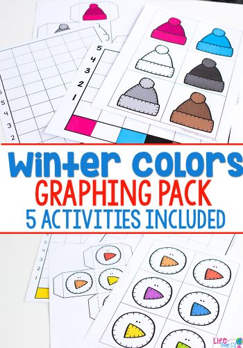 Winter graphing activities for kindergarten and pre-k. Work on graphing through games, no-prep printables, partner games and whole class activities. Your kindergarteners will have a blast with these math graphing activities.