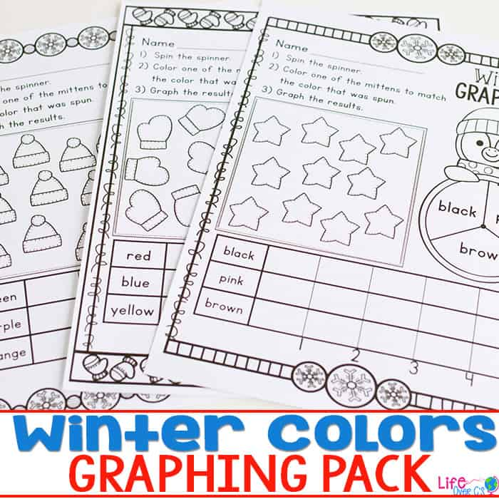 Learn about graphing with your preschoolers using these Print & Go graphing printables.