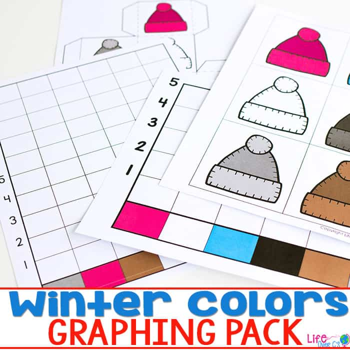 Looking for graphing activities that kids of any skill level can do? These winter color graphing activities for preschoolers are perfect!