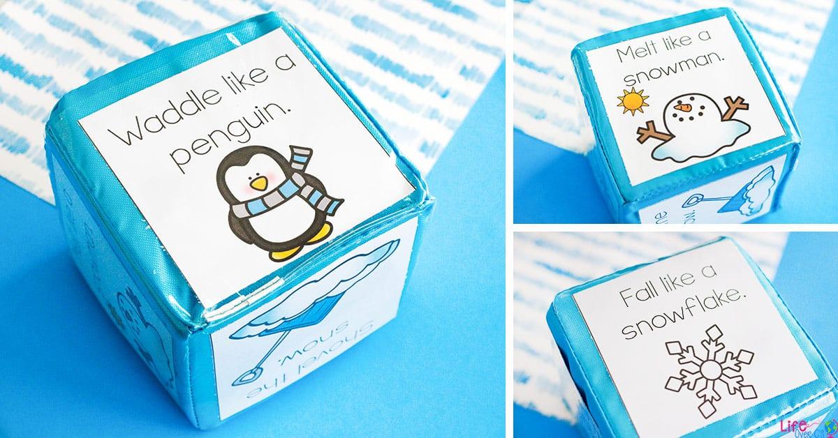 Winter gross motor dice for brain break activities life for Winter themed gross motor activities