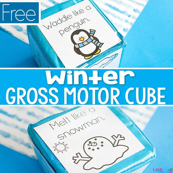 kids will love this winter gross motor game for brain breaks during the winter when it