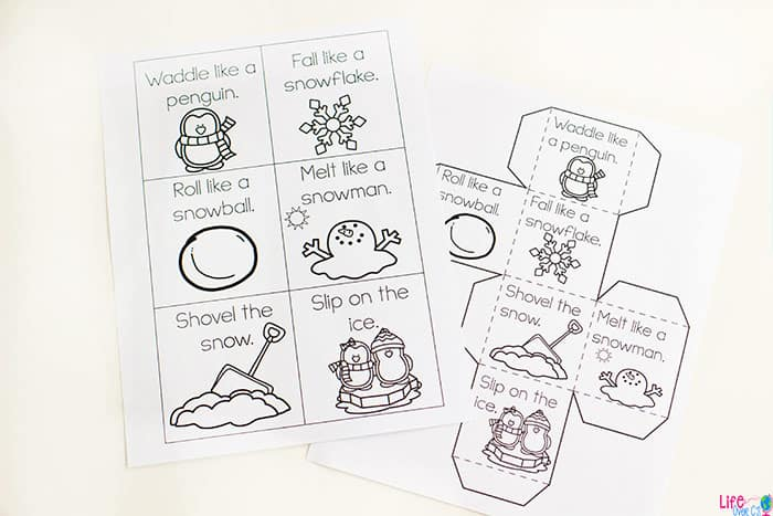 either way your kids will love these winter themed gross motor dice for brain breaks and you wont need to fear indoor recess anymore