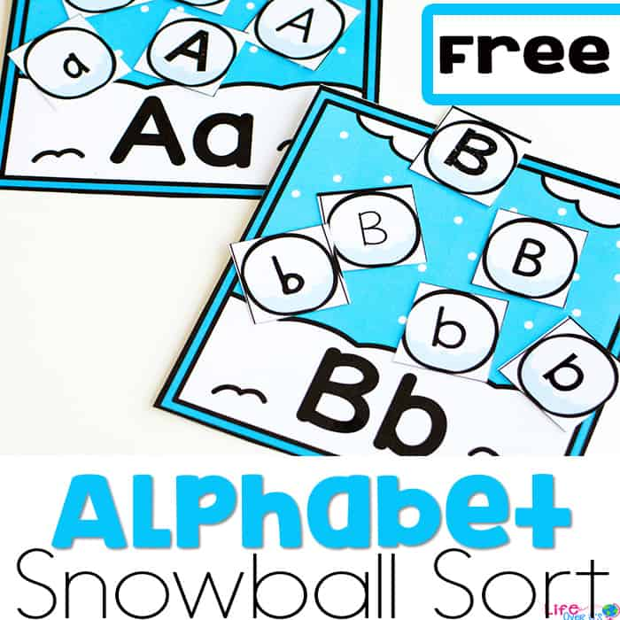 Free Snowball Alphabet Sorting Activity