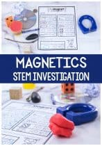 Free printable What is Magnetic? STEM printable and STEM activity for preschoolers