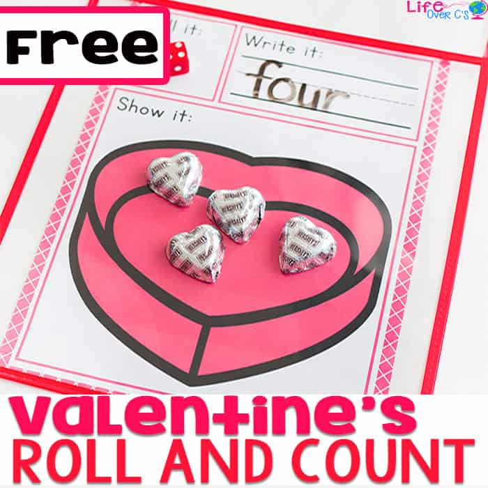 Valentine's Dice Counting Game
