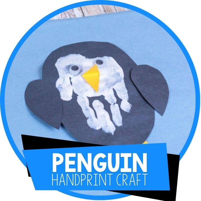 How to Make a Penguin Hand Print Craft