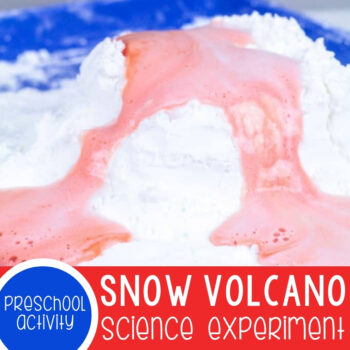 Snow Volcano Science Experiment Featured Square Image