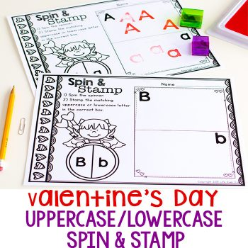 Practice letters for preschoolers with this free printable Valentine's alphabet activity.