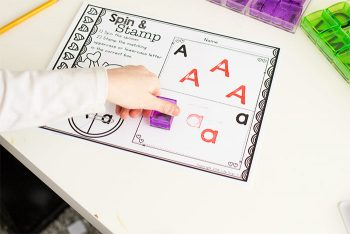 Practice uppercase and lowercase letters with this kindergarten alphabet activity.