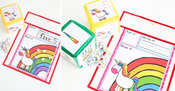 Unicorn Counting Game for math centers