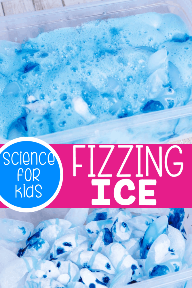 If your kids love science, they will have a blast with this fizzing ice science experiment.