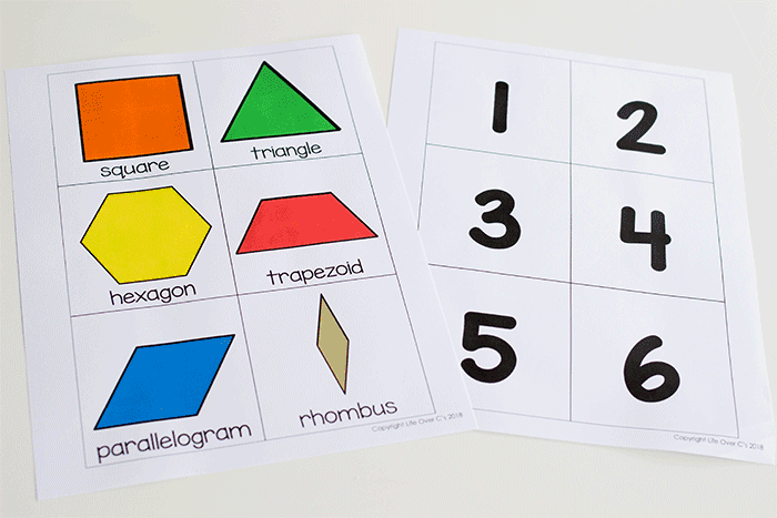 Free pattern block printables for kindergarten math