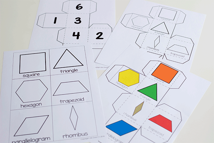 Kindergarten shape activity with pattern block printables