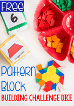 Grab your pattern blocks and this free pattern block printable for an engaging math activity!