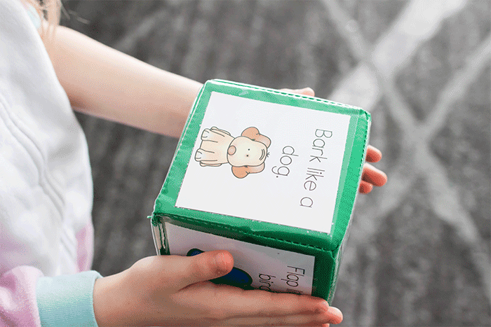 easy to prep free printable break break activity cubes.