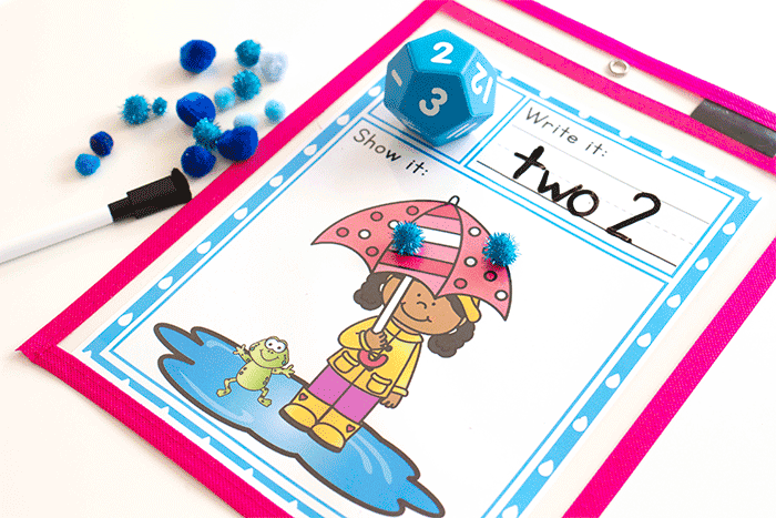 Spring math game perfect for rainy days