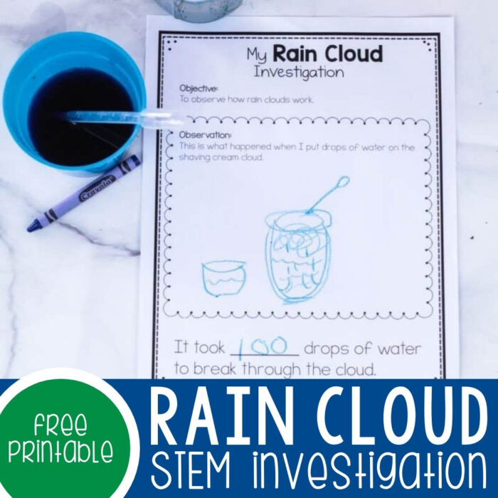 Rain Clouds STEM Investigation Featured Square Image