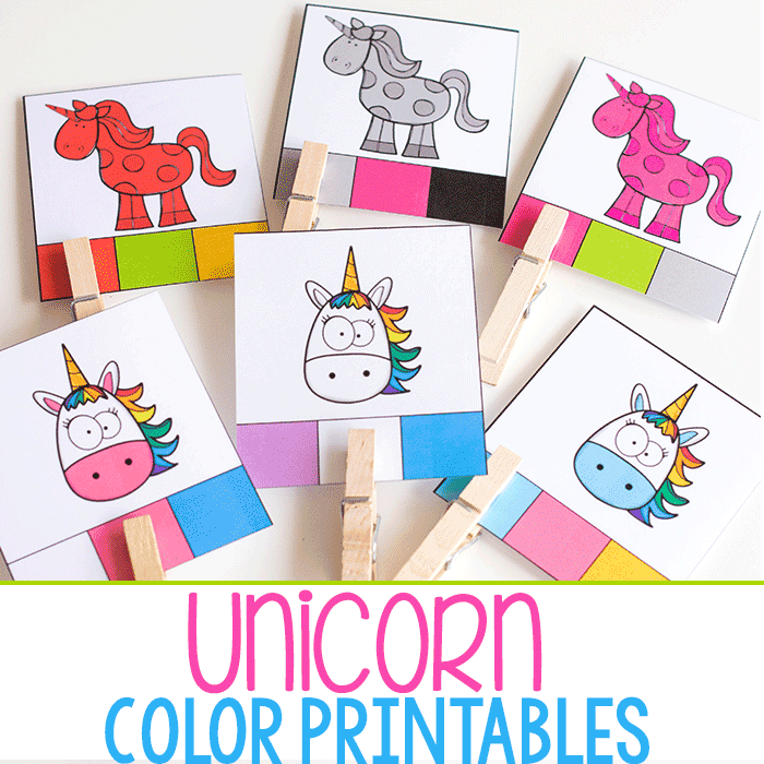 Unicorn Color Pack for Preschoolers