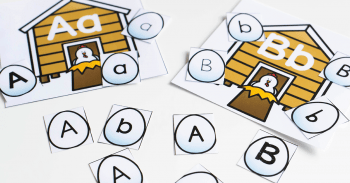 Work on letter recognition with this free printable farm theme alphabet sorting printable activity for kindergarten and preschool.