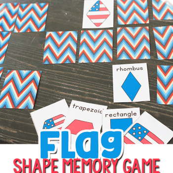 Learn 2D Shapes with this simple flag shape matching game for kindergarteners.