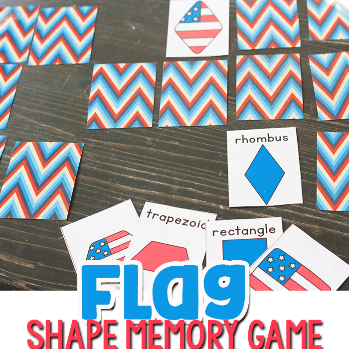 Free Printable Shape Flag Matching Game