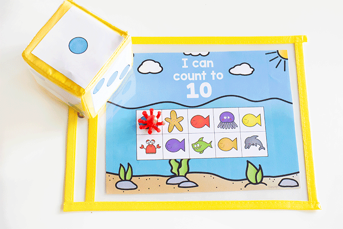 Count to 10 with this free printable for preschoolers.