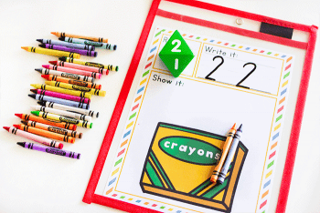 Free printable math counting activity for kindergarten math centers.