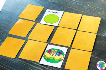 Free printable math activity for 2D shapes.