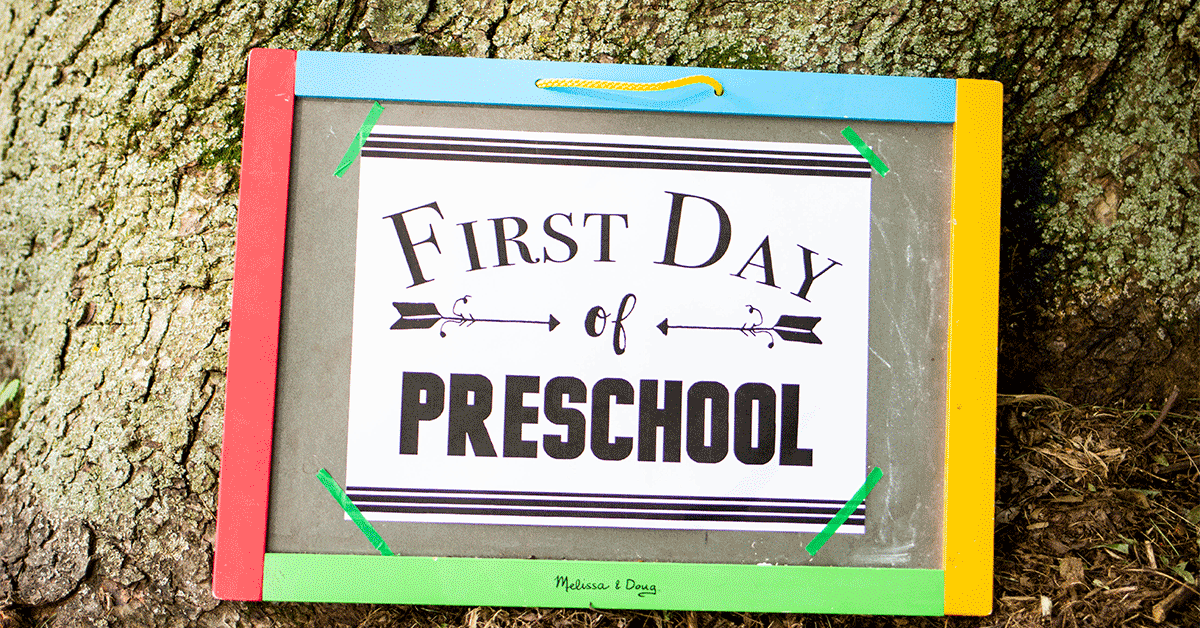 graphic regarding First Day of Preschool Free Printable named How Towards Deliver The Very first Working day Of Homeschool Unforgettable + Totally free