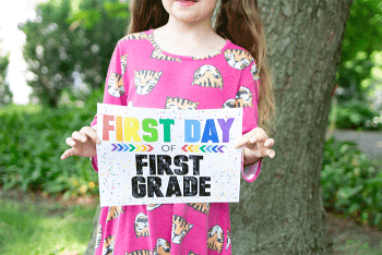 Remember their first day of school with these colorful free printable first day of school signs.