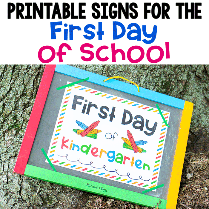 Crayon Themed First Day Of School Sign For A Class Photo