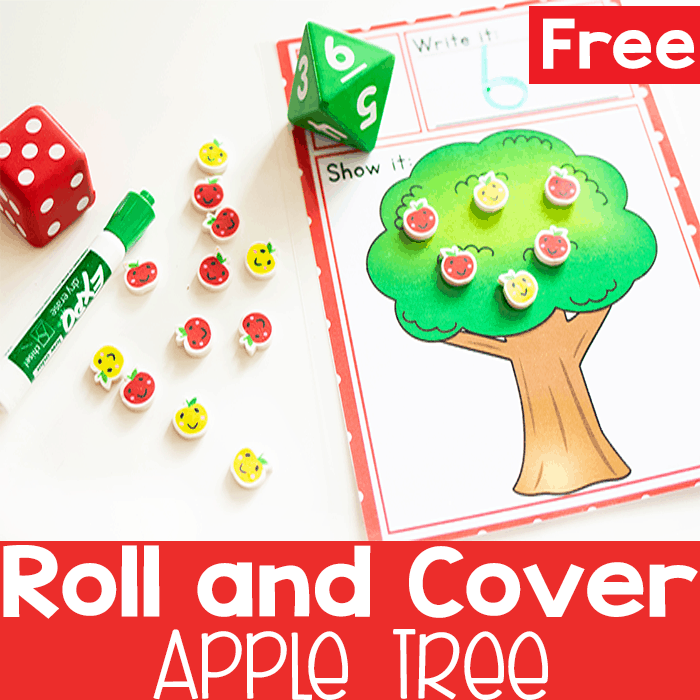 Practice counting skills with this simple apple themed counting activity for preschoolers.