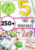 250 Free printable activities for preschool, kindergarten and elementary