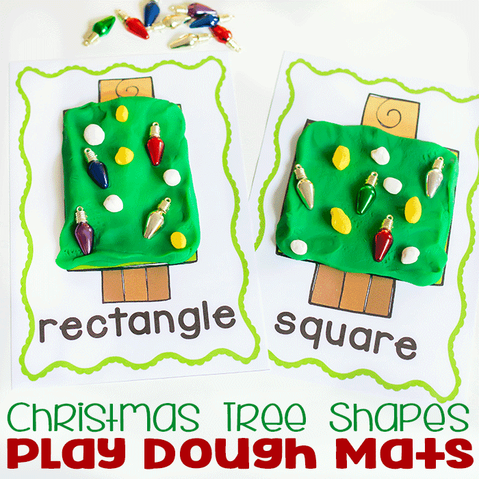 Free Printable Christmas Tree Shape Play Dough Mats