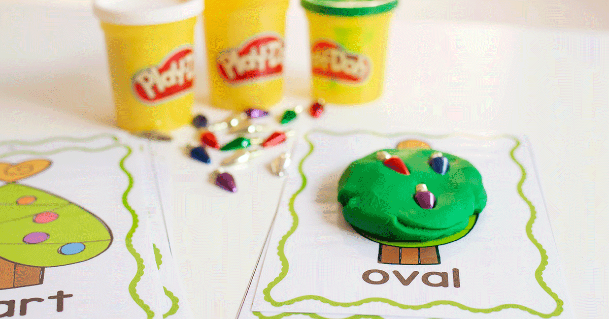 Use play dough to create shapes on with this fun 2D shape activity for preschoolers.