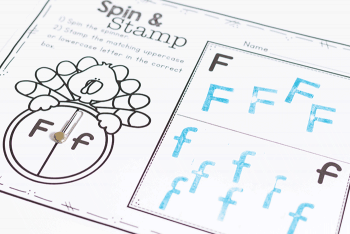 Free printable thanksgiving alphabet activity for preschool. Spin the spinner and