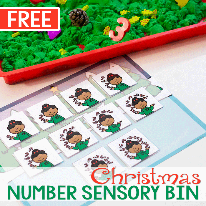 Christmas Number Activity for Sensory Bins